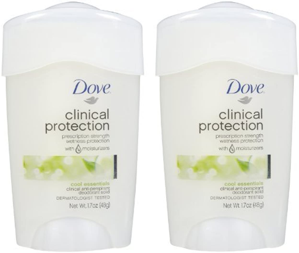 申し立てられたスカープスキームDove Clinical Protection Antiperspirant & Deodorant, Cool Essentials - 1.7 oz - 2 pk by Unilever [並行輸入品]