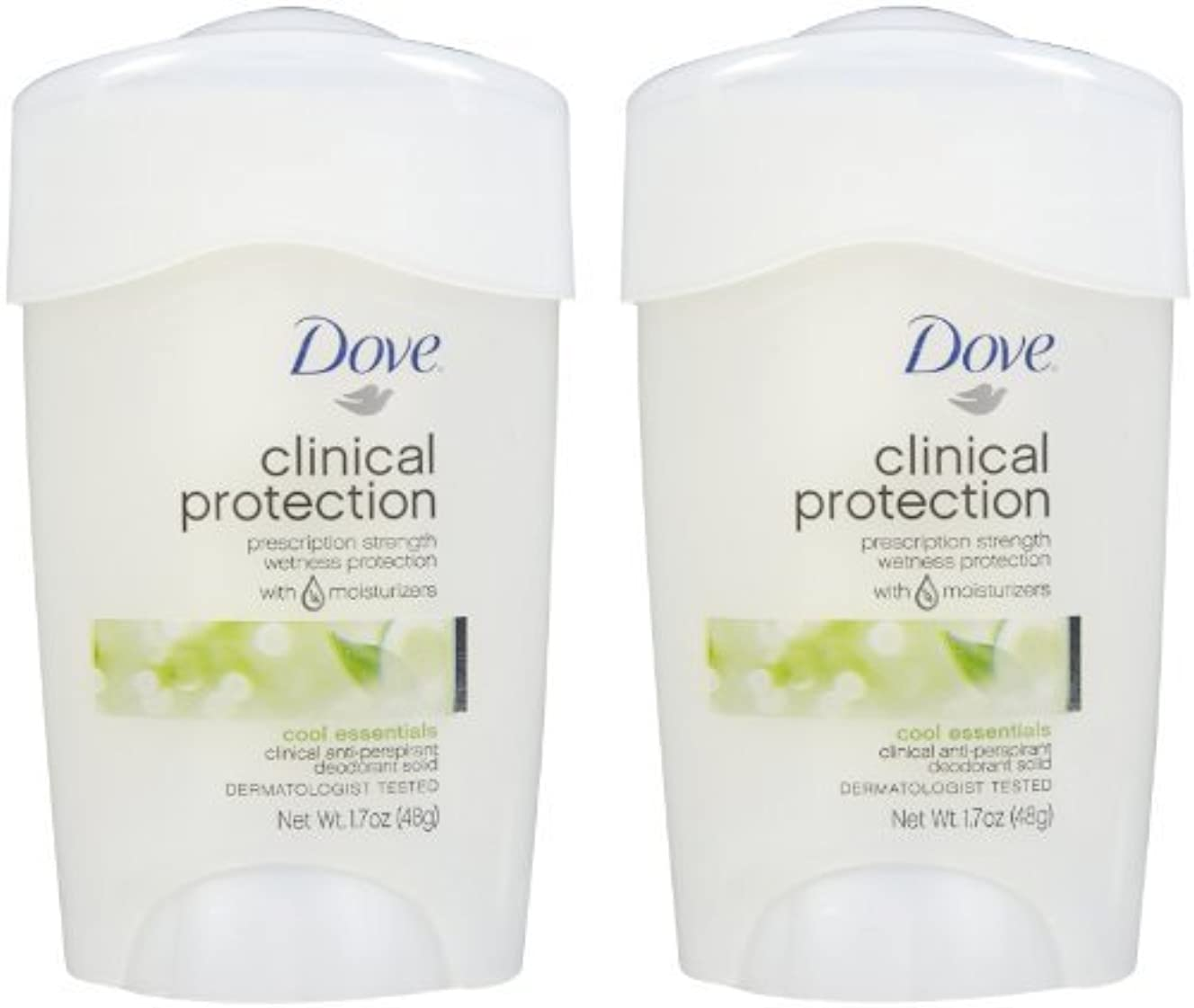 オフセットポルティコボーカルDove Clinical Protection Antiperspirant & Deodorant, Cool Essentials - 1.7 oz - 2 pk by Unilever [並行輸入品]