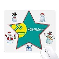 平和友好を維持する クリスマス・雪人家族ゴムのマウスパッド