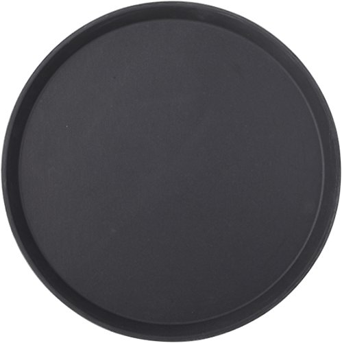 Utopia Non Slip Trays, JMP923-000000-B01012, zwart niet-slip lade rond 14
