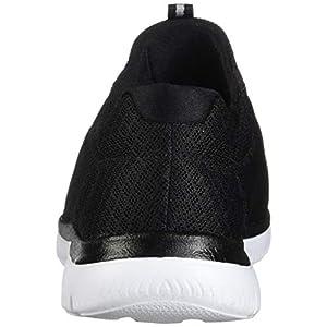 Skechers Women's Summits Sneaker, Black/White, 9.5 M US