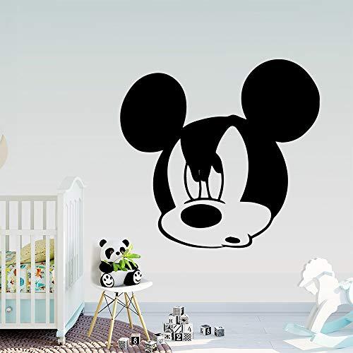 wZUN Pegatinas de Pared extraíbles con ratón, Pegatinas de Vinilo, Papel Tapiz para decoración del hogar, Pegatinas de Pared para habitación de niños, 42X43cm