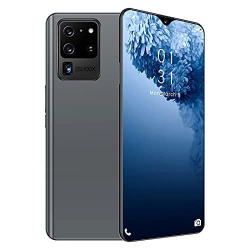 Teléfono Móvil 4G, S20U Dual SIM Smartphone, Pantalla De Gota De Agua HD + De 6.53 Pulgadas, 6GB RAM + 128GB ROM, Android 9.0, Batería 3100mAh, Reconocimiento Facial-Gray