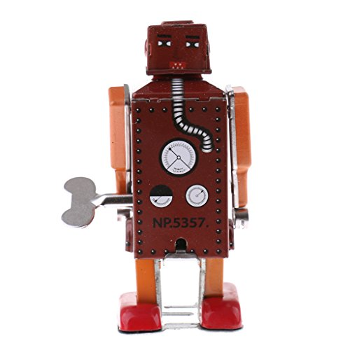 chiwanji 21 Opción Retro Wind Up Walking Robot / Car / Carousel / Monkey Tin Toy Coleccionables - Multicolor