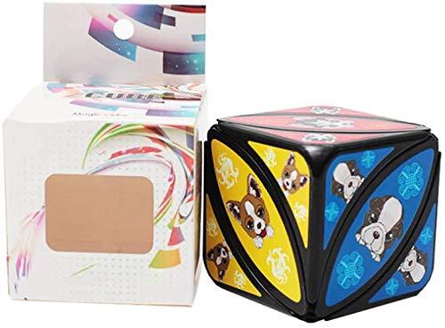 Twisted Arce Hoja mágica Ojo mágico Cubo Rompecabezas Juguetes educativos Juguetes Dedo 56 mm Cubo Profesional Cubo de la Velocidad para los Hijos Adultos,si