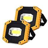 Luz de Trabajo LED Recargable, T-SUN Luz de Inundación Portátil 30W, 3 Modos, Foco LED Recargable Para la Reparación de Automóviles, Camping, Luces de Seguridad de Emergencia.(Batería Incluida)