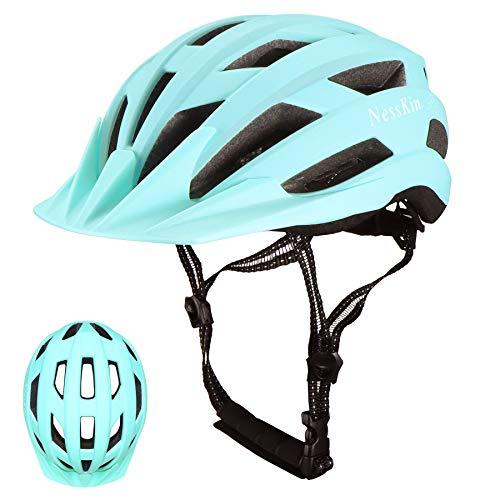 NESSKIN Fahrradhelm für Erwachsene, CPSC-zertifiziert, leichter Helm, Fahrradhelm für Herren und Damen, Rennrad & Mountainbike mit abnehmbarem Visier