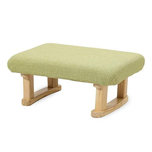 HEWEI Muebles de jardín para el hogar Taburetes para tocadores Taburetes Acolchados para los pies Taburetes para Cambiar Zapatos con Almohadillas de Cocina extraíbles Cubiertas de Lino para Todas