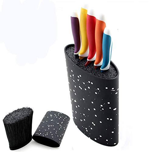 AYHa Universal-Kunststoff Oval Messerblock abnehmbares Küchenmesser Ständer für Messer-Werkzeug-Halter-Speicher, Schwarz,Schwarz