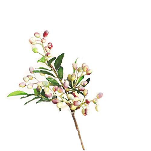LHY- Gefälschte Blume sehr realistische Simulation Berry Bouquet Flasche Set Wohnzimmer Grün Pflanze Topfverzierungen gefälschte Blumen Mode (Color : B)