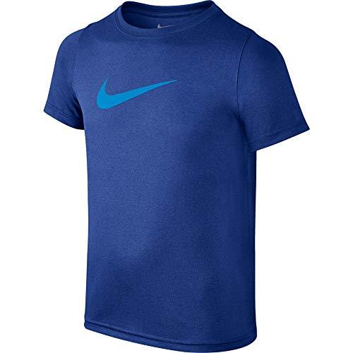 Nike Dry Swoosh Solid T-Shirt pour garçon S Blanc/Noir