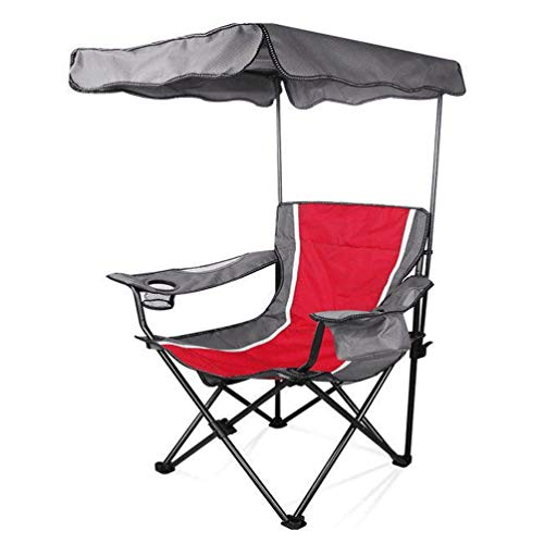 Camp Stühle Mit Sonnenschirm Baldachin Stuhl Klapp Camping Recliner Red Tragbare Stühle Oxford Tuch Material Sonnenschirm Sessel, Outdoor, Camping, BBQ, Strand, Reisen, Picknick Mit Aufbewahrungstasch