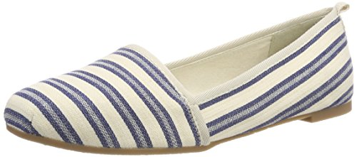 Tamaris Damen 24668 Slipper, Blau (Navy Stripes), 36 EU