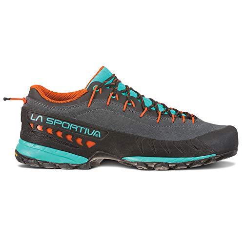 La Sportiva TX4 Women's Approach Shoe, Carbon/Aqua, 37