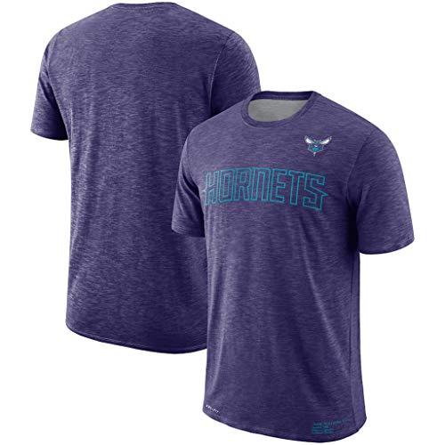 Männer Basketball NBA T-Shirt Charlotte Hornets Fans Jersey Breathable Quick-Dry Leichtathletik Cation Sommerkleidung Für Die Jugend S-XXXL Purple-XL