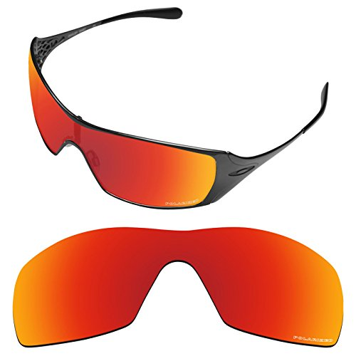 Tintart Performance Lenses Compatible with Oakley Dart Polarized Etched-Fire Red