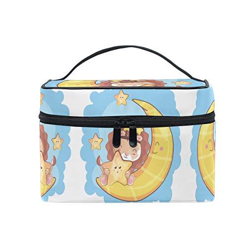 Moon Star Baby Lion Trousse Sac de Maquillage Toilette Cas Voyage Sac Organisateur Cosmétique Boîtes pour Les Femmes Filles