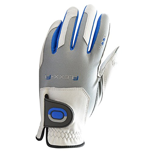Zoom-Tour Flexx-Fit Golf-Handschuh MLH - Weiß/Silber/Blau - Pack of 1