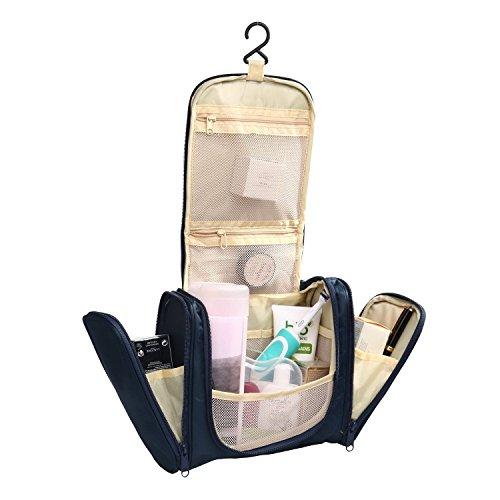 Fafada Großzügige Kulturtasche zum Aufhängen 21x18x11 cm kulturbeutel kosmetiktasche Verfügbar in drei Farben Dunkelblau