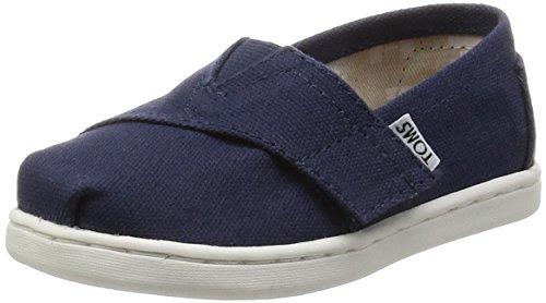 Tiny Toms Classics Navy Blue Kid Shoes