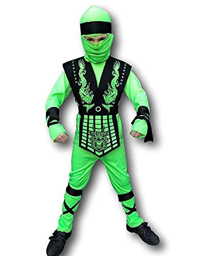 Rubber Johnnies , Disfraz de NINJA de GrASSHOPPER para nios, color verde nen, disfraz de asesino para nios, Halloween y fiestas de cumpleaos