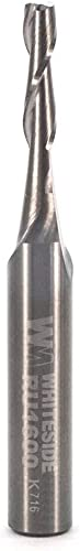 high quality Whiteside Router Bits RU1600 Standard online sale Spiral Bit with Up Cut Solid Carbide 1/8-Inch Cutting Diameter 2021 and 1/2-Inch Cutting Length sale