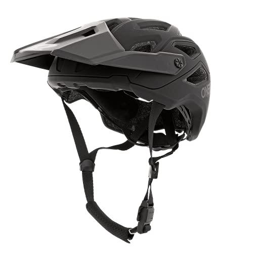 O\'NEAL | Mountainbike-Helm | Enduro Trail Downhill | Schweißabsorbierendes Innenfutter, erfüllt Sicherheitsnorm EN1078 | Helmet Pike Solid | Erwachsene| Schwarz Grau | Größe S/M