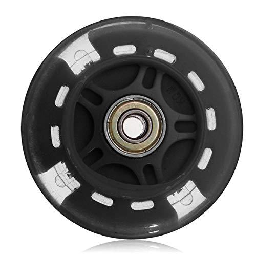 DBSUFV Ruedas de Repuesto para Scooter de 80 mm con cojinetes ABEC 7, Luces Intermitentes LED Flash Wheel Mini o Maxi duraderas - Reemplazo para Scooters Kick/Razor (Negro)