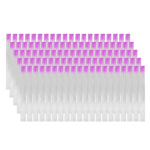 MWOOT 100 Stücke Fibernails Fiberglas für Nagelverlängerung,Nail Extension Fiberglass Set Fiberglas-Nägel-Streifen False Nails Manicure Salon Tool Für UV-Gel-Nägel Kunst