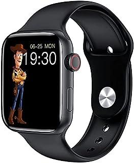 ساعة ذكية HW22 برو ماكس 1.78 انش شاشة ملونة بتقنية IPS بشحن لاسلكي مقاس 44.1 ملم، اسود