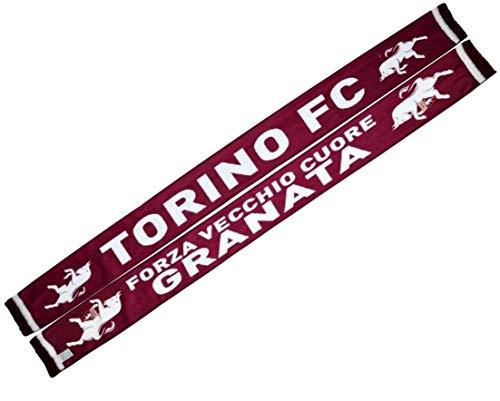 Sciarpa Torino Toro Ufficiale in Pile Poliestere Forza Vecchio Cuore Granata SCPILETRVCGR1286