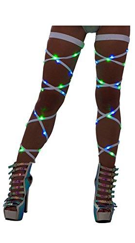 J. Valentine Damen Beinbandagen mit Licht - Weiß - Einheitsgröße