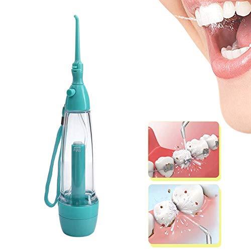 DBSCD Wasser Flosser für Zähne Tragbarer, manueller, kabelloser Mundduschen-Wasserstrahl für Zähne, Zahnspangen und Brücken zur häuslichen Zahnpflege