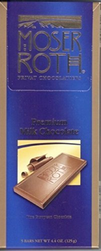 Moser Roth Privat Chocolatiers European Chocolate, Premium Milk, 4.4 Ounce by Moser Roth
