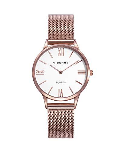 Reloj de Mujer Viceroy 471278-03 con Esfera Blanca y Esterilla en Rosa