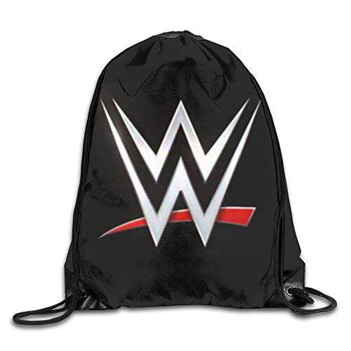 W-W-E Personalized Gym Drawstring Bags Travel Backpack Tote School Rucksack For Women Men