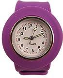Acczilla Slap Watch - Silicone Slap On Watch - Purple - Childrens Size