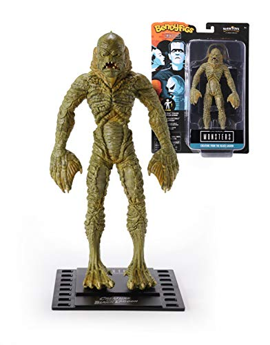 The Noble Collection Bendyfigs Creature From The Black Lagoon Officially Licensed 19cm Gill-Man Bendable Toy Posable Collectable Doll Figures With Stand - For Kids & Adults