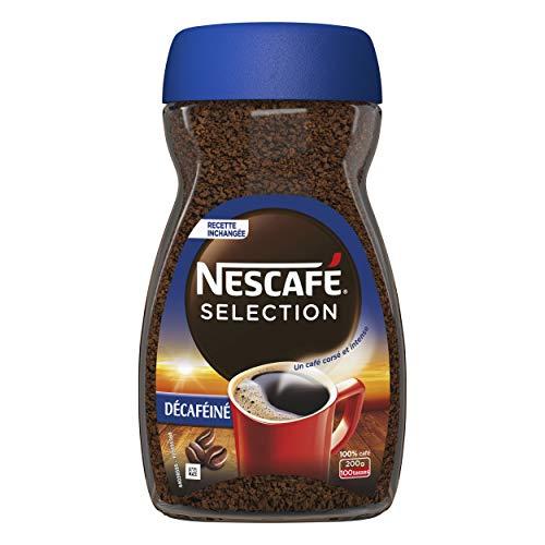 Nescafé Sélection Décaféiné - Café Soluble - Flacon de 200g