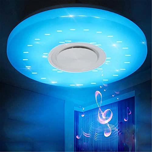 Lámpara De Techo De 36 Cm Con Altavoz Bluetooth, Plafón Regulable RGB De 36 W, Impermeable IP44, Aplicación Y Control Remoto, Araña De Cielo Estrellado 3D Para Cocina, Baño, Fiesta