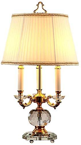 Table Lamp Tischlampe Nachtisch Lampen Tischlampen Luxus Kerzenhalter Kristall Tischlampe, Licht Luxus Basis Design, edel und elegant Nachttischlampe