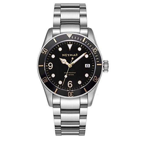 NEYMAR 41.5mm Men's Automatic Watch 300m Diver Watch 200m Stainless Steel Watch