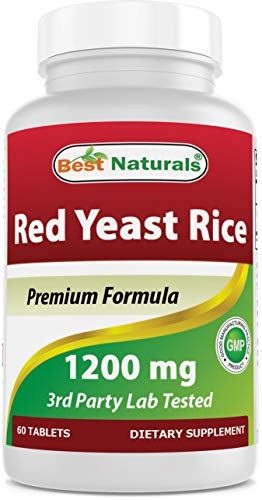 Best Naturals Red Yeast Rice 1200 Mg Tablet for Healthy Cholesterol Level, 60 Count (817716015859)
