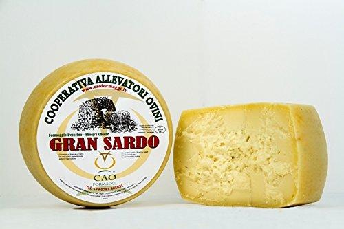 1.7 kg (Mezza forma) - Gran Sardo. Pecorino prodotto da Cao Formaggi. Formaggio a pasta semidura stagionato 3 mesi