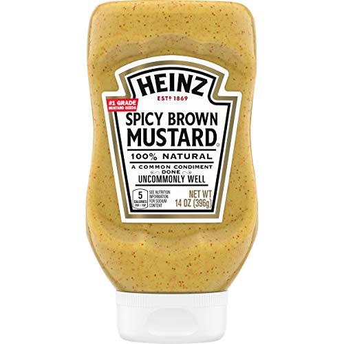 Heinz Spicy Brown Mustard, 14 oz