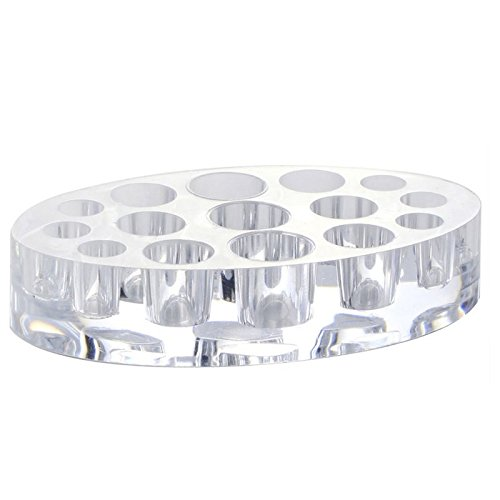 TENGGO 19 Trous Acrylic Tattoo Accessoires Acrylic Pigment Ink Cap Cup Oval Clear Holder Stand