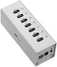 Xcellon 7-Port Powered USB 3.0 Aluminum Hub (Silver)