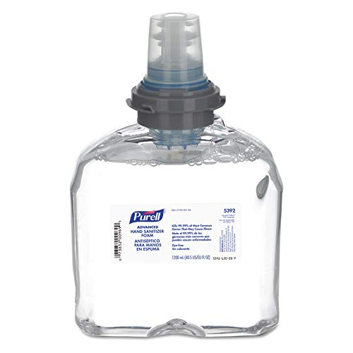 Purell TFX Instant Hand Sanitizer Refill, 40.5 Oz (1200mL), Carton of 2