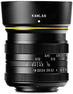 Kamlan 21mm f/1.8 Manual Focus Lens for Fujifilm X Mount