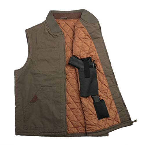 Lilcreek Concealed Carry Vest, Mens Jacket With Handgun Holster Pockets